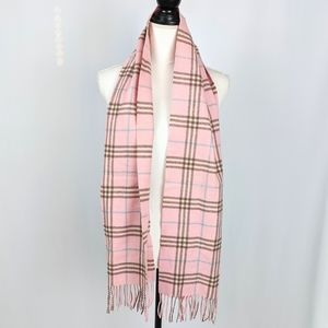 Burberry London Cashmere Nova Checked Plaid Scarf